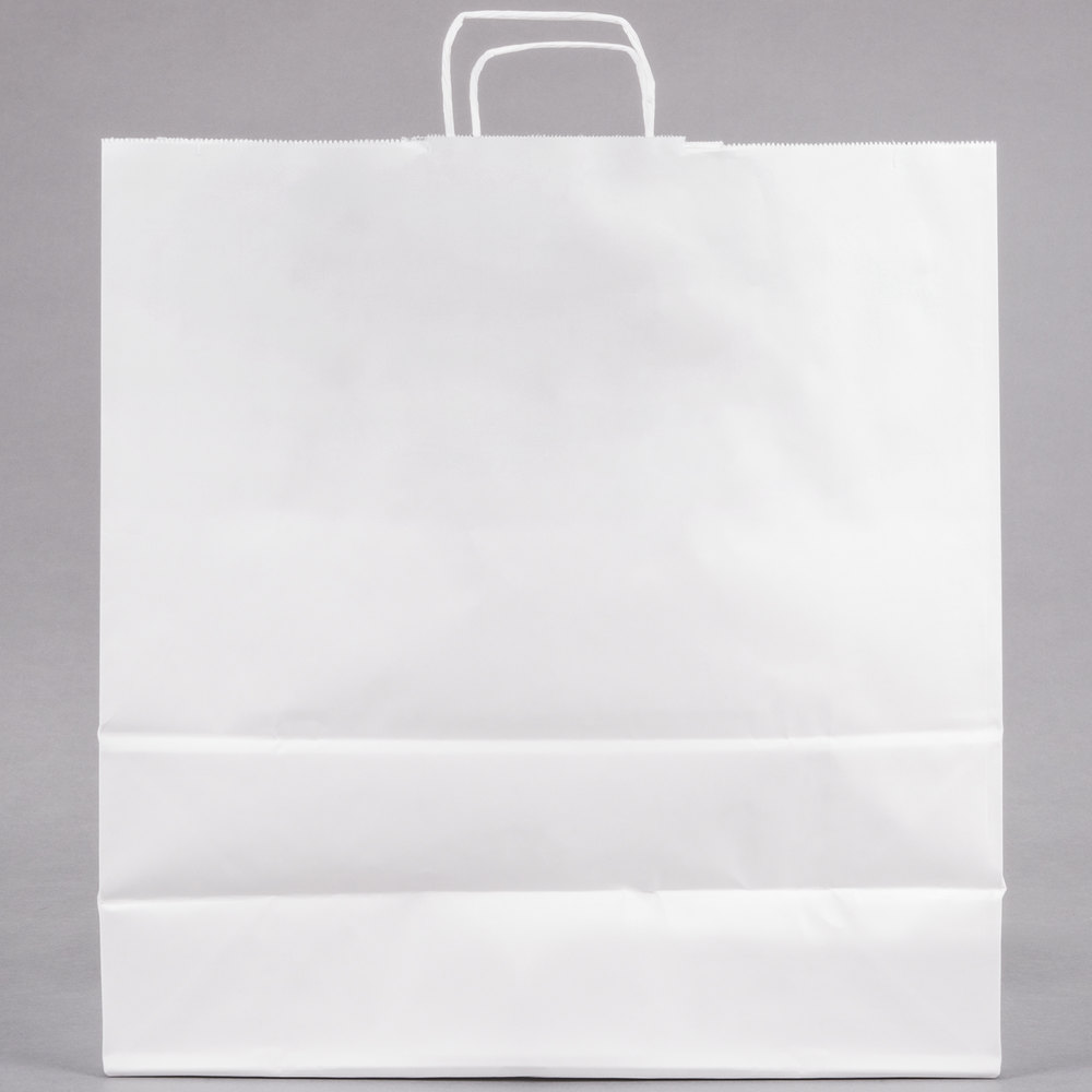 white paper shopping bag with handles 18