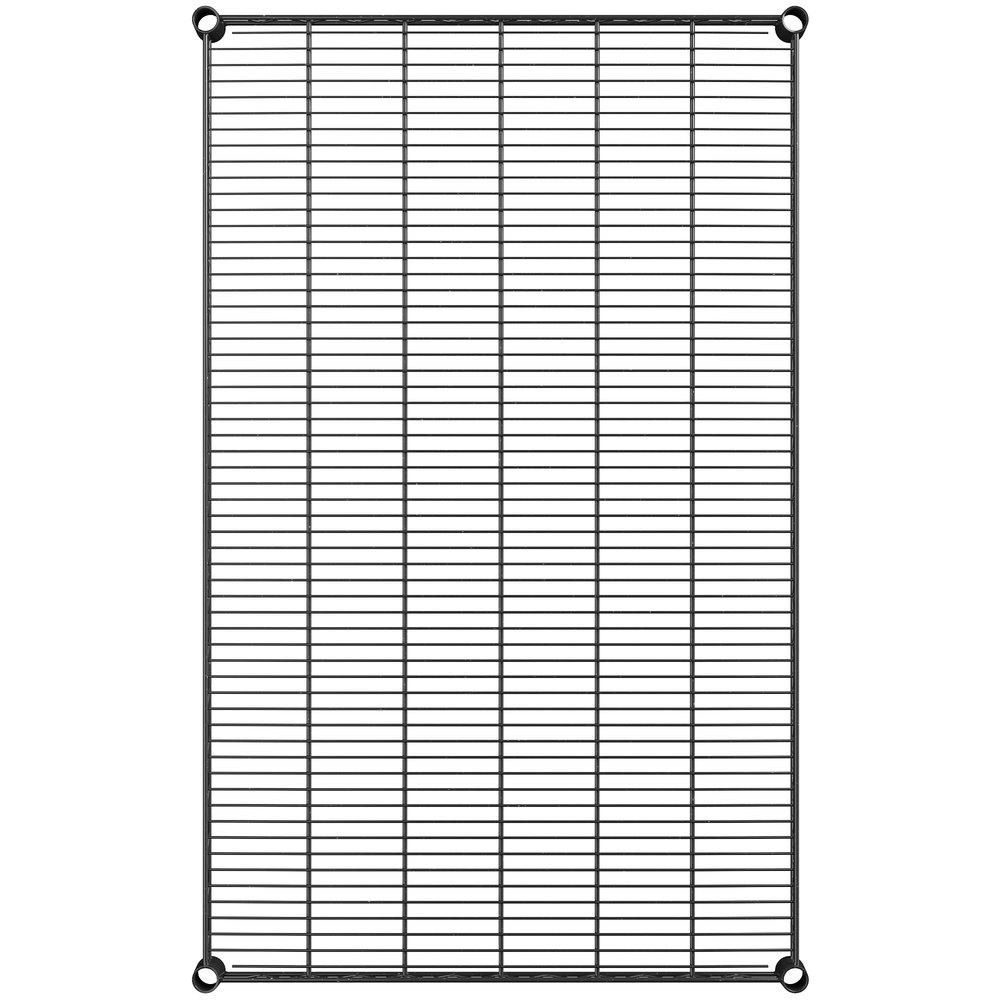 Regency 30 inch x 48 inch NSF Black Epoxy Wire Shelf