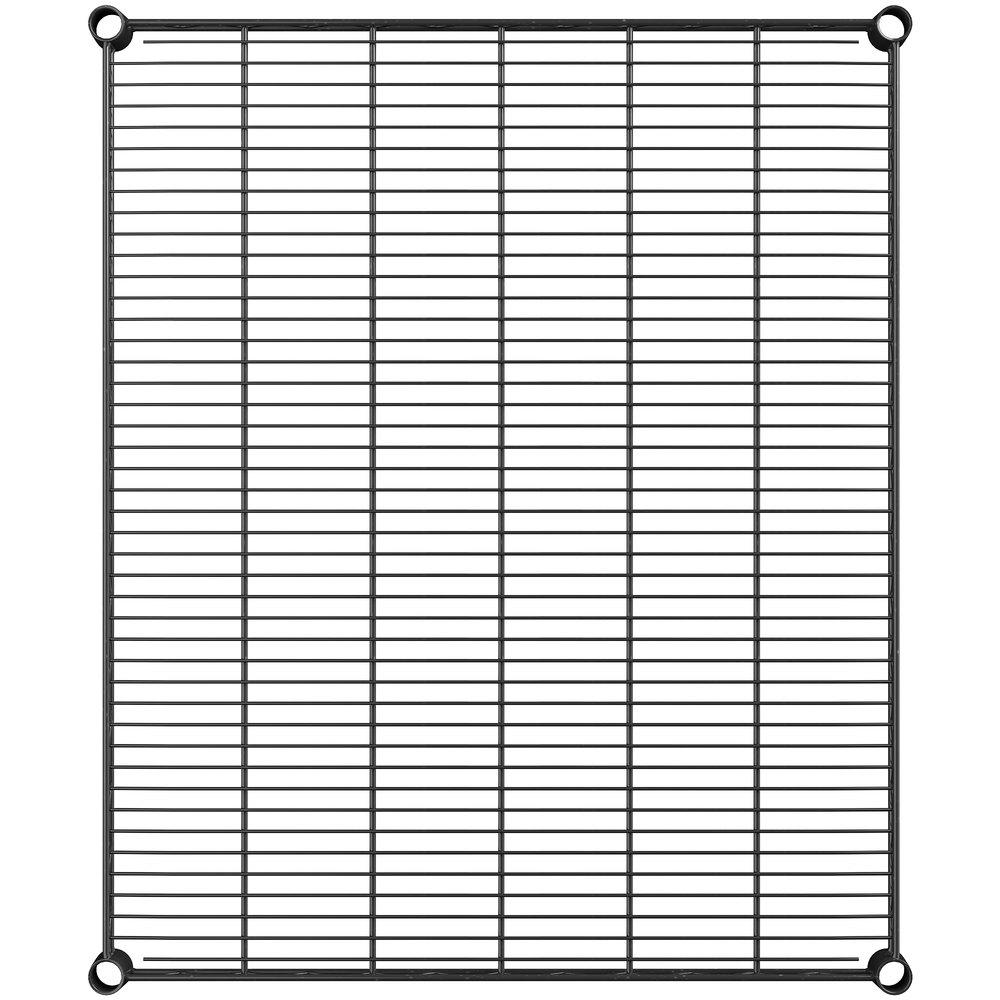 Regency 30 inch x 36 inch NSF Black Epoxy Wire Shelf