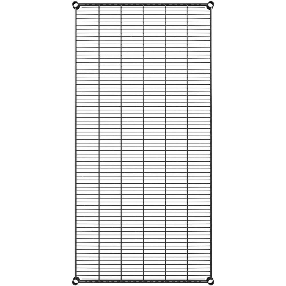 Regency 30 inch x 60 inch NSF Black Epoxy Wire Shelf