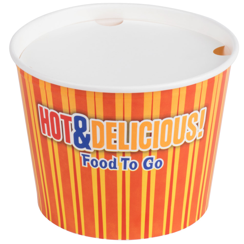 Choice 5 Lb Hot Food Bucket With Lid 25 Pack