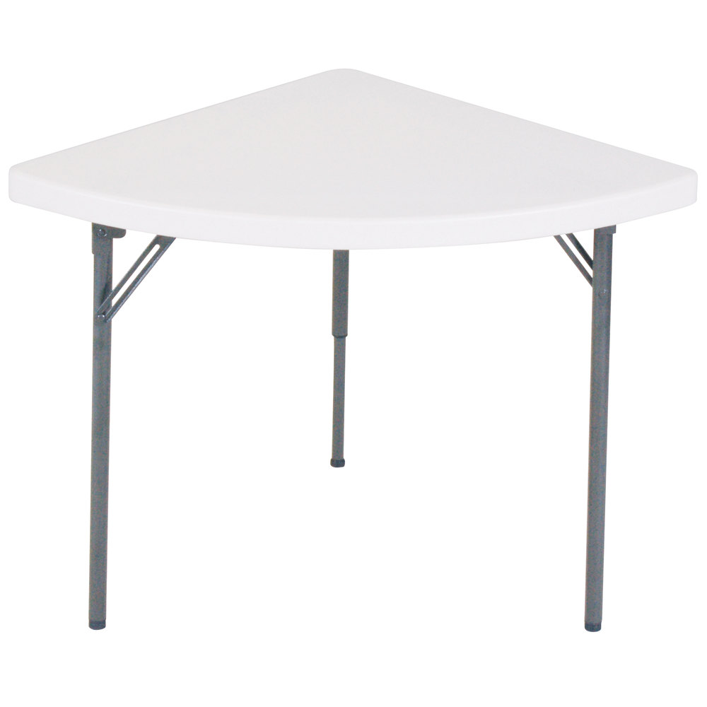 correll quarter round wedge folding table 30 x 30 plastic granite gray fs3030w. Black Bedroom Furniture Sets. Home Design Ideas