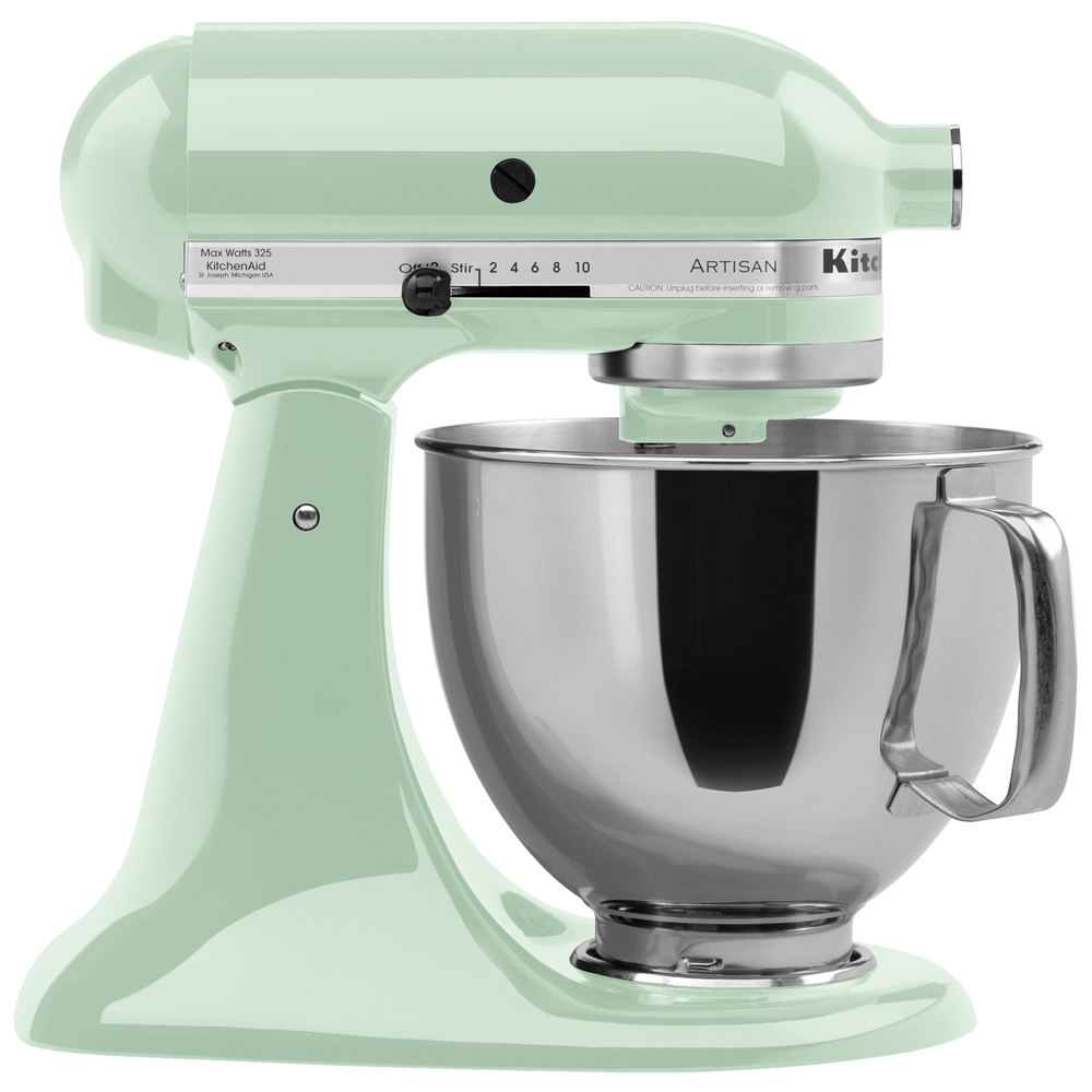 kitchenaid ksm150pspt pistachio artisan series 5 qt countertop mixer. Black Bedroom Furniture Sets. Home Design Ideas