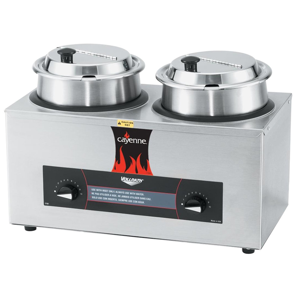 Vollrath Soup Warmers ~ Vollrath cayenne twin well qt countertop