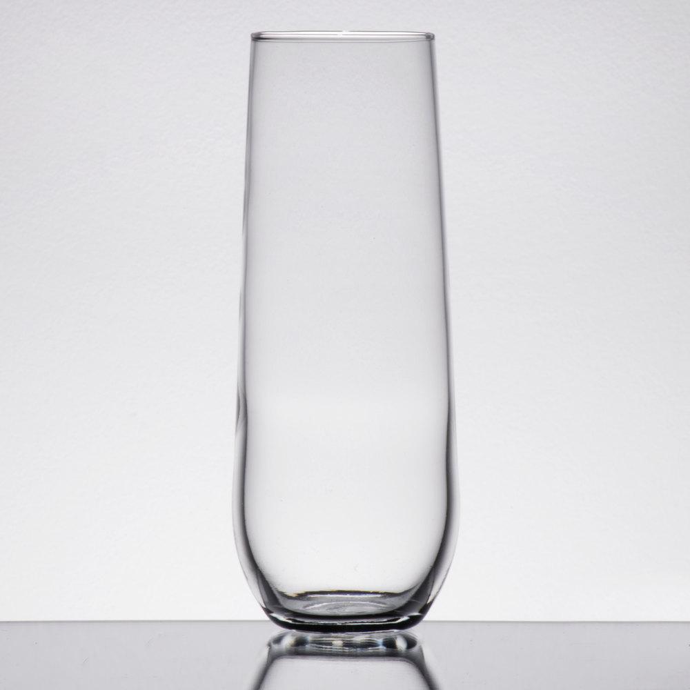 Libbey 228 8 5 Oz Stemless Flute Glass 12 Case