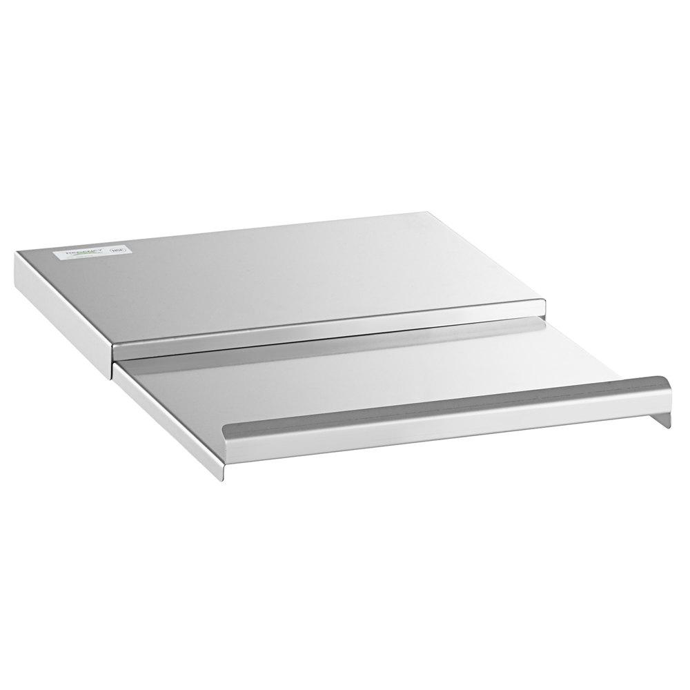 Regency 18 inch x 12 inch Stainless Steel Underbar Ice Bin Sliding Lid