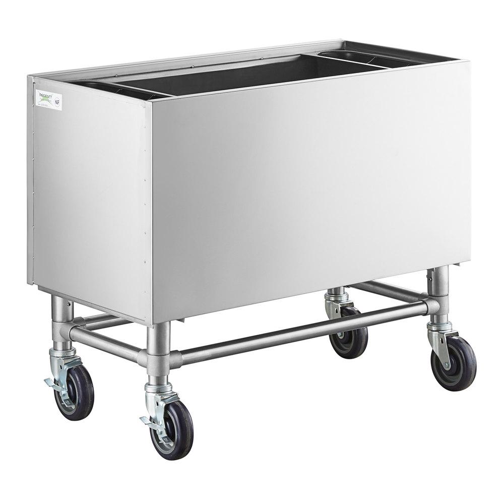 Regency 36 inch x 18 inch Stainless Steel Portable Ice Bin