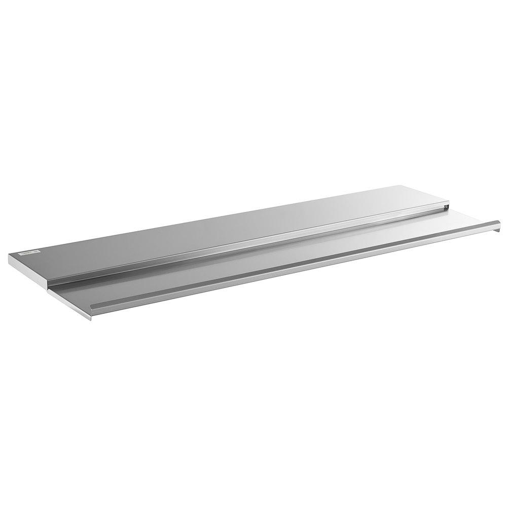 Regency 18 inch x 48 inch Stainless Steel Underbar Ice Bin Sliding Lid