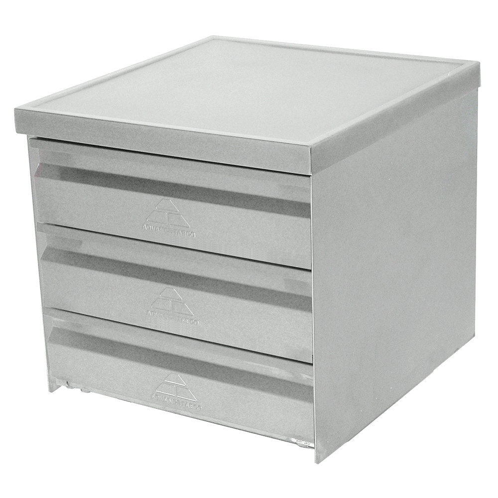 "Advance Tabco ADT-3-2015 3 Tier Drawer Assembly with Side Panels - 20"" x 15"" x 5"" Drawers"