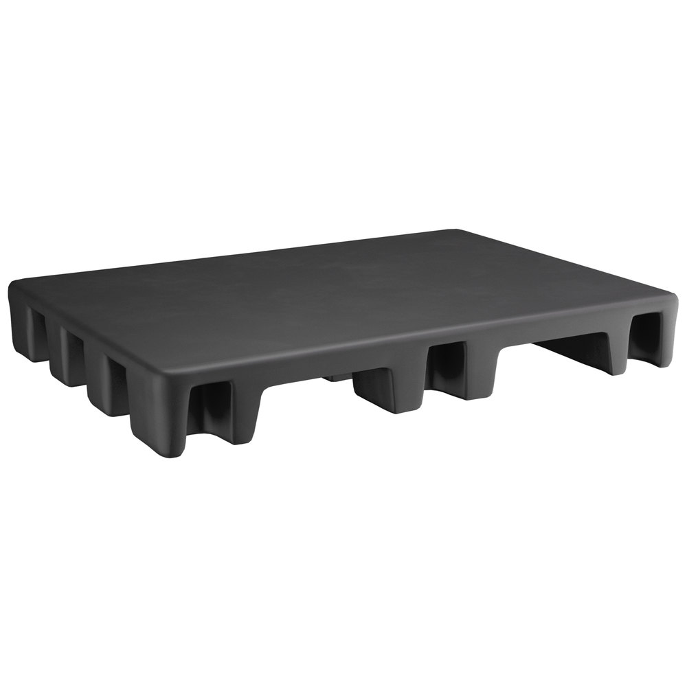 Regency 42 inch x 30 inch x 6 inch Black Plastic Display Base / Spot Merchandiser - 2000 lb. Capacity