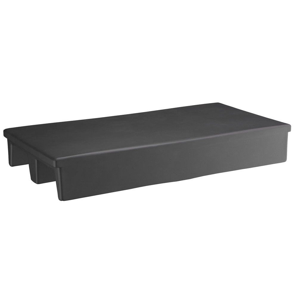 Regency 40 inch x 20 inch x 6 inch Black Plastic Display Base / Spot Merchandiser with 2-Way Entry - 1000 lb. Capacity