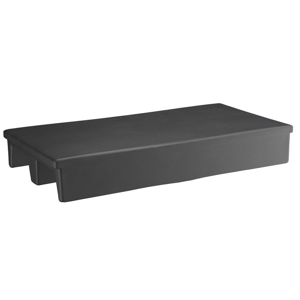 Regency 40 inch x 20 inch x 6 inch Black Plastic Display Base / Spot Merchandiser with 2-Way Entry - 1000 lb. Capacity
