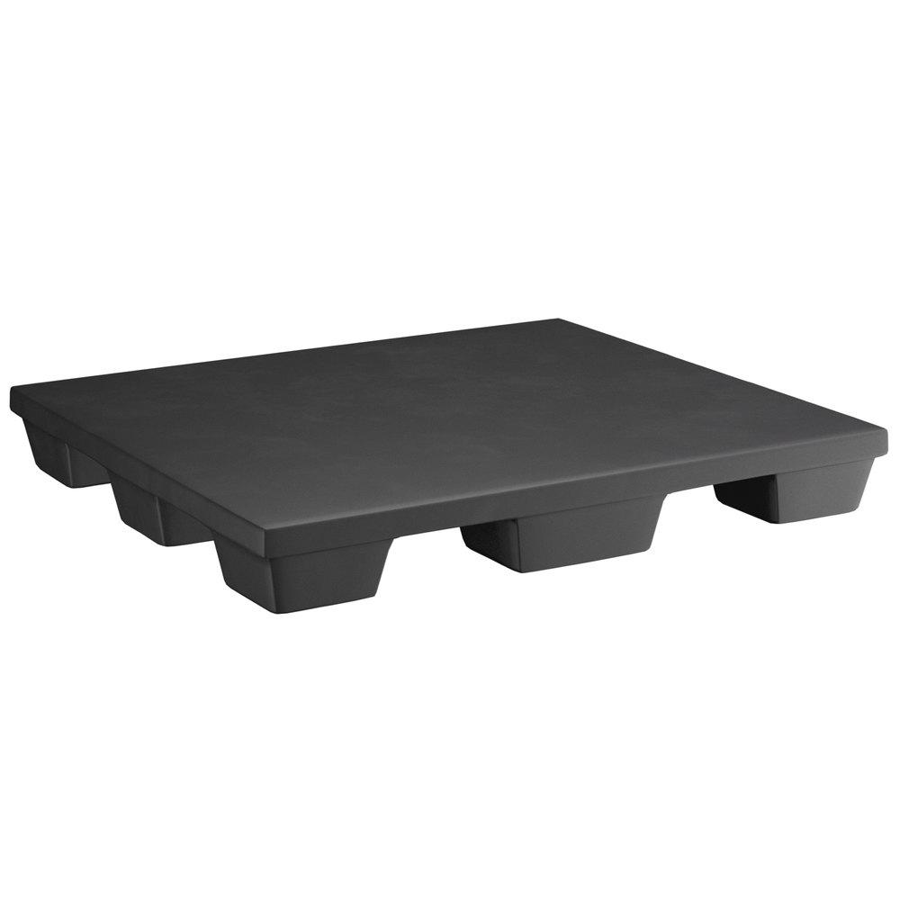 Regency 48 inch x 42 inch x 6 inch Black Plastic End Cap / Spot Merchandiser - 2000 lb. Capacity