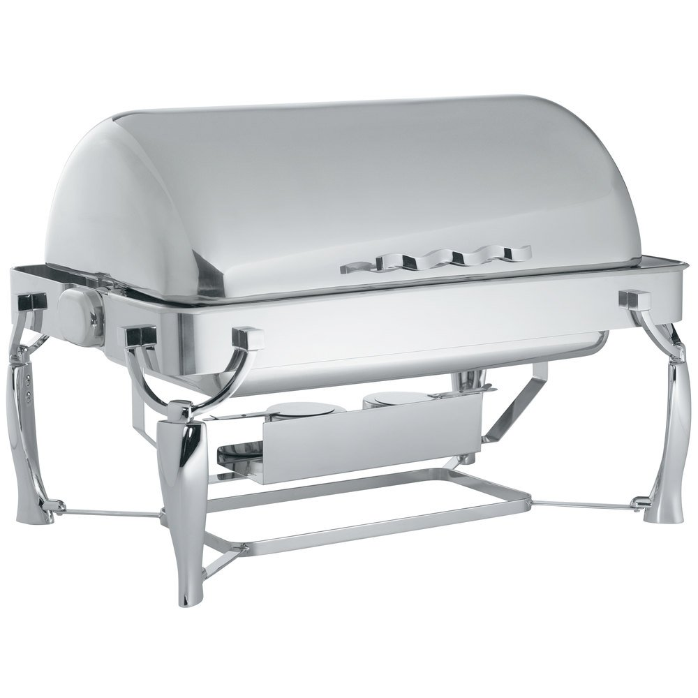 Vollrath 4634010 9 Qt. Somerville Rectangular Chafer - Fully Retractable Roll Top