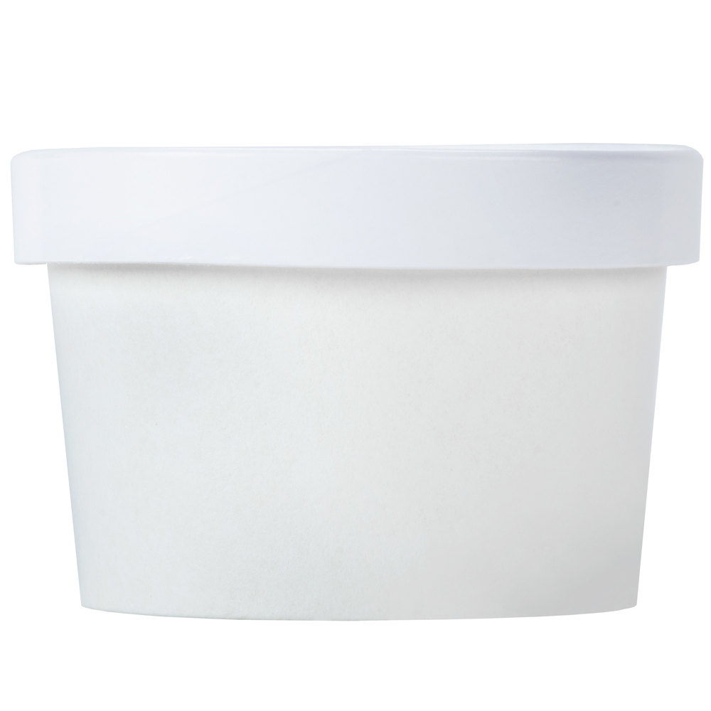 Choice 8 Oz White Paper Soup Hot Food Cup With Vented