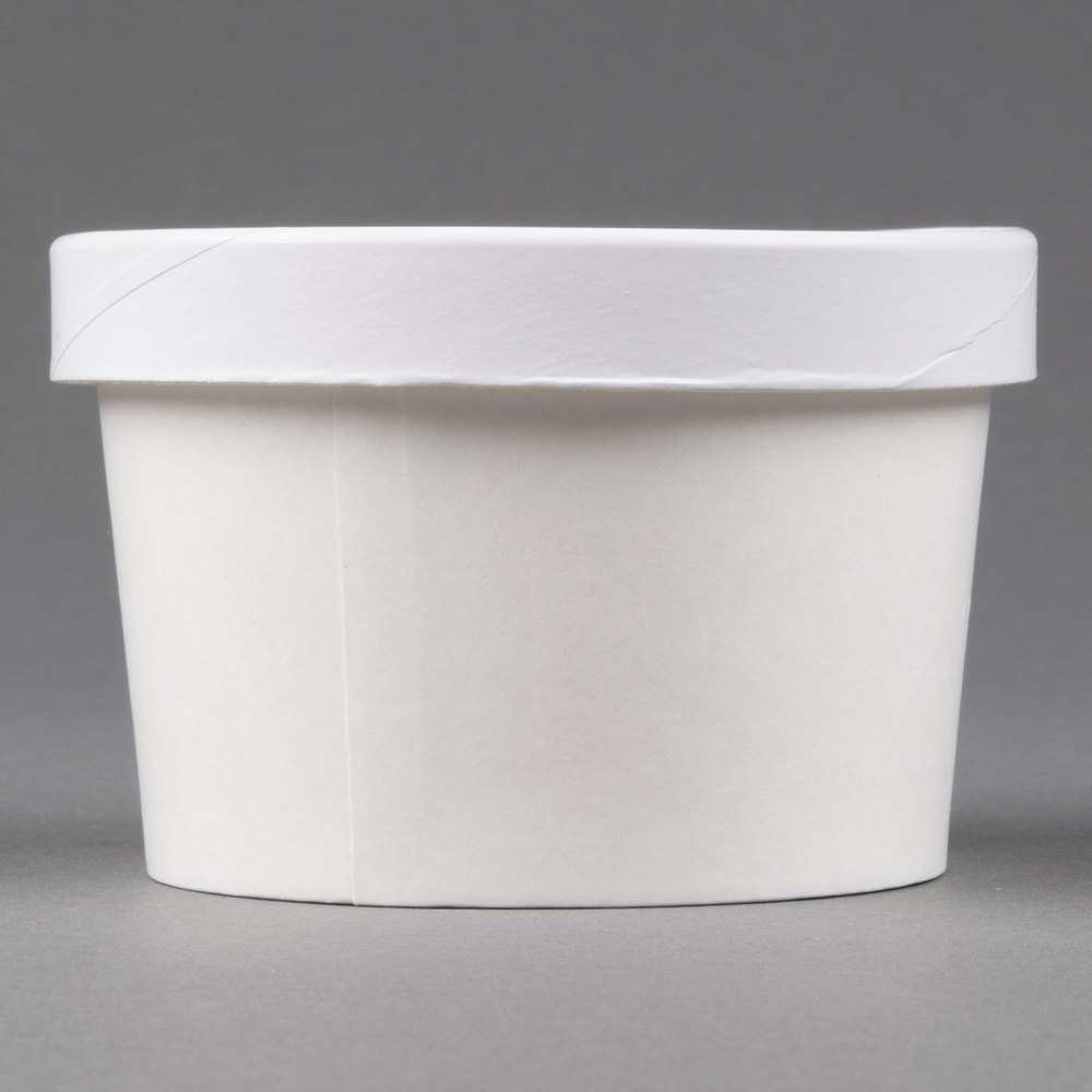Choice 8 Oz Double Wall Poly White Paper Soup Hot Food