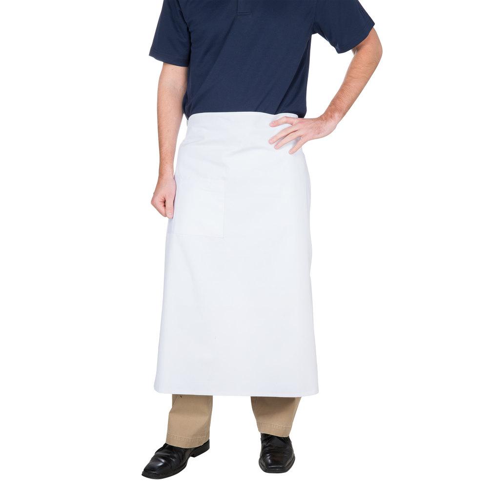 White bistro apron - White Bistro Apron 33