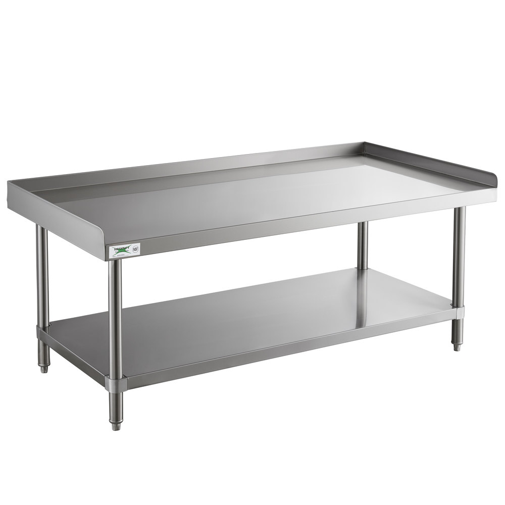 Regency 30 inch x 60 inch 14-Gauge Stainless Steel Equipment Stand With Galvanized Undershelf