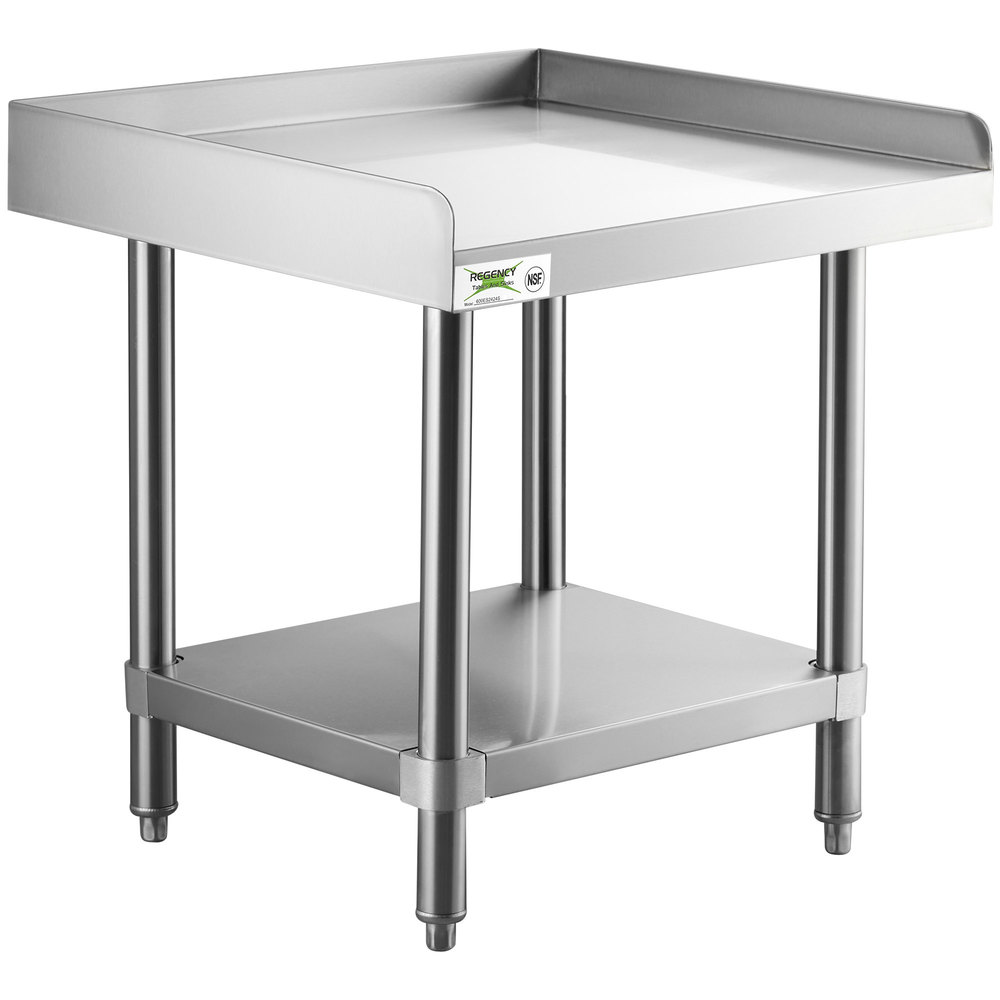 Regency 24 inch x 24 inch 14-Gauge Stainless Steel Equipment Stand With Galvanized Undershelf