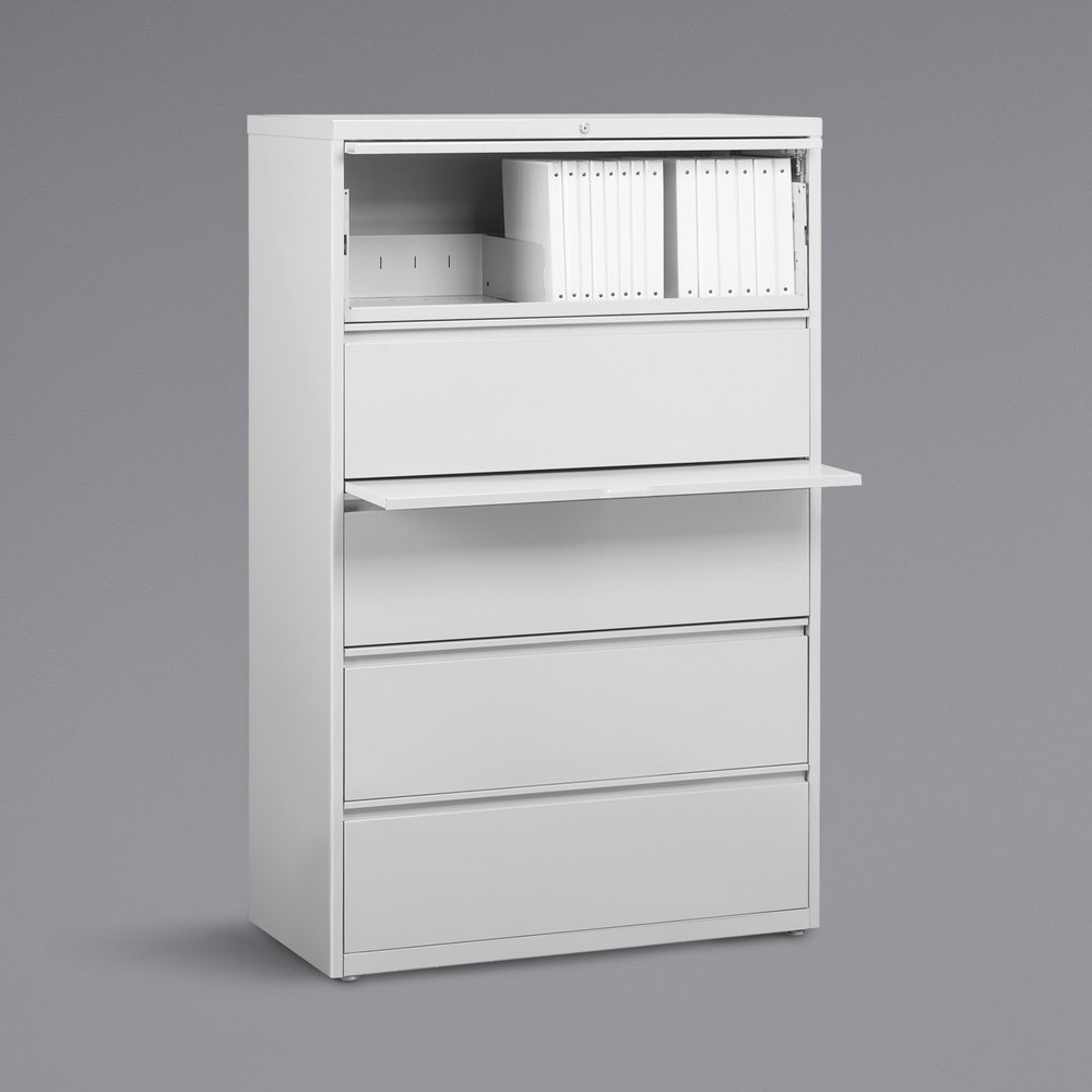 Hirsh Industries 23703 Hl8000 Series White Five Drawer Lateral