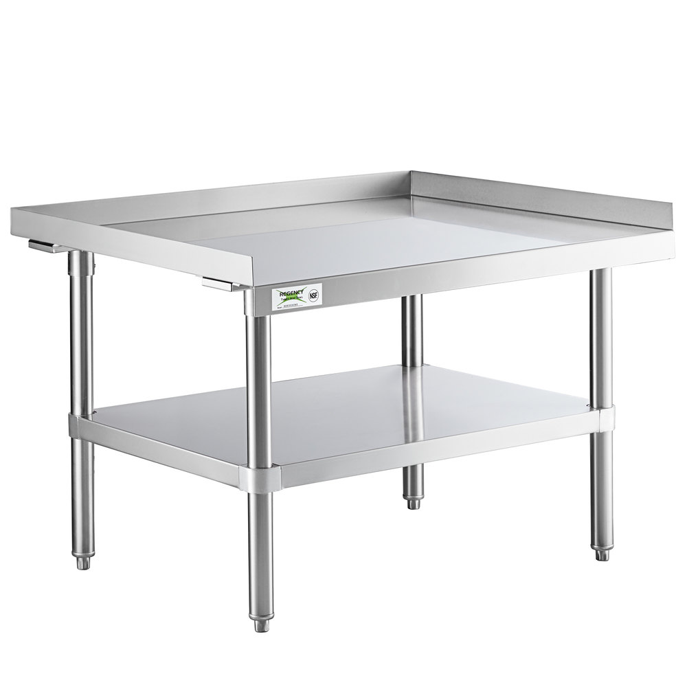 Regency 30 inch x 36 inch 14-Gauge Stainless Steel Equipment Stand With Galvanized Undershelf