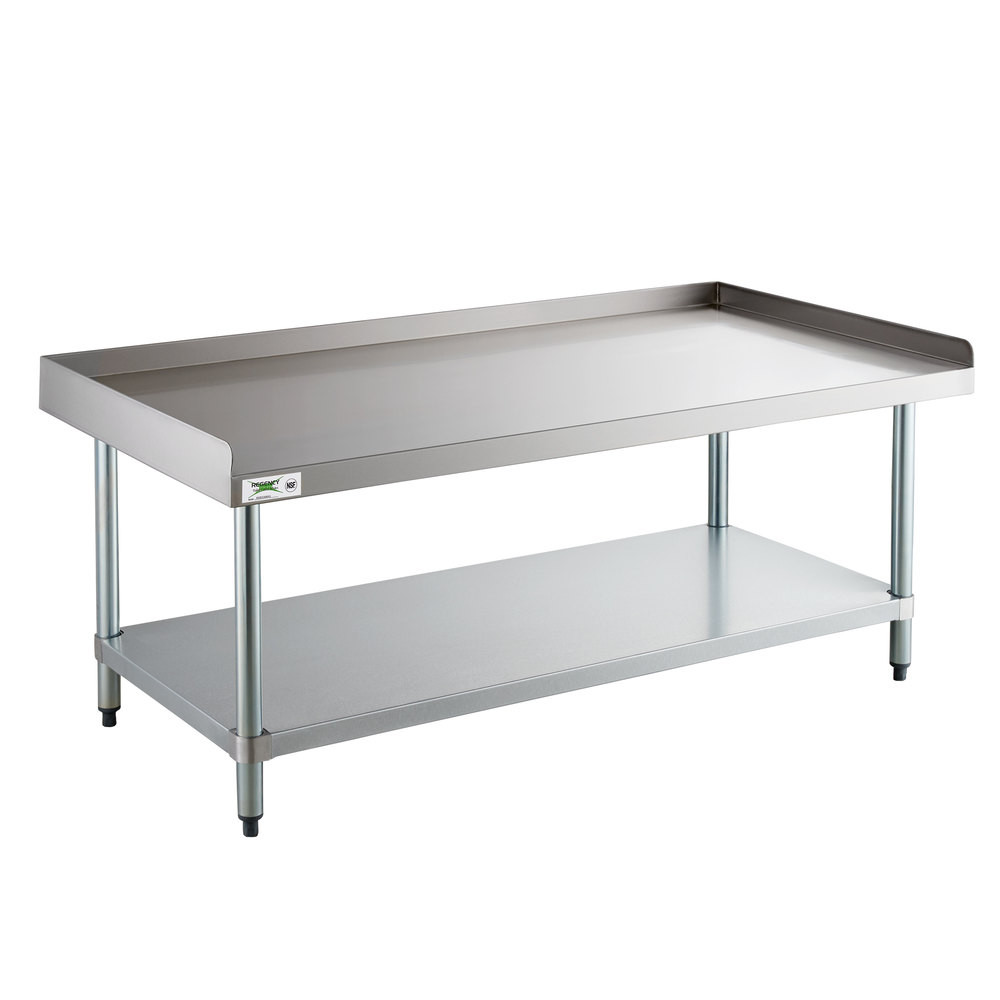 Regency 24 inch x 60 inch 16-Gauge Stainless Steel Equipment Stand with Galvanized Undershelf