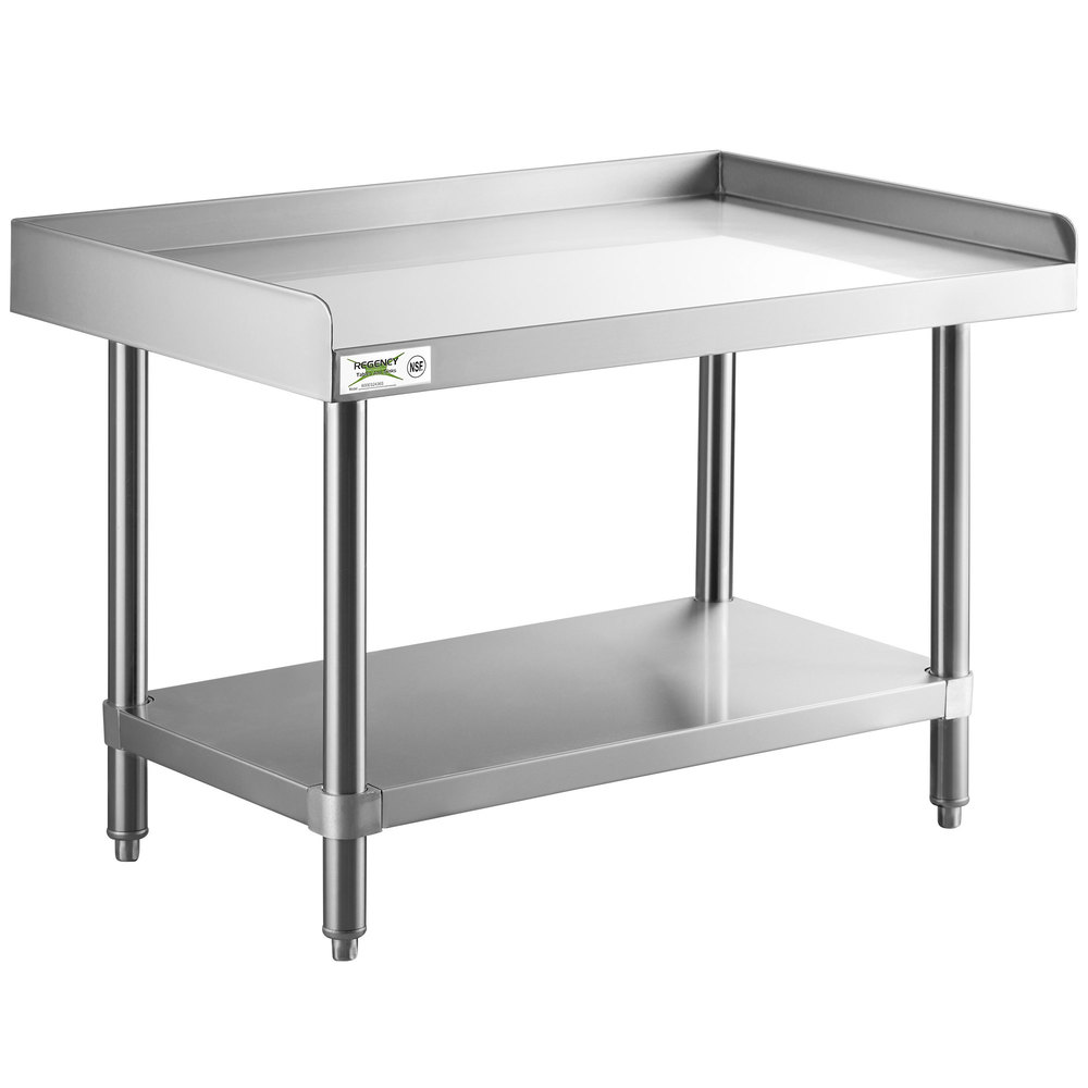 Regency 24 inch x 36 inch 14-Gauge Stainless Steel Equipment Stand With Galvanized Undershelf