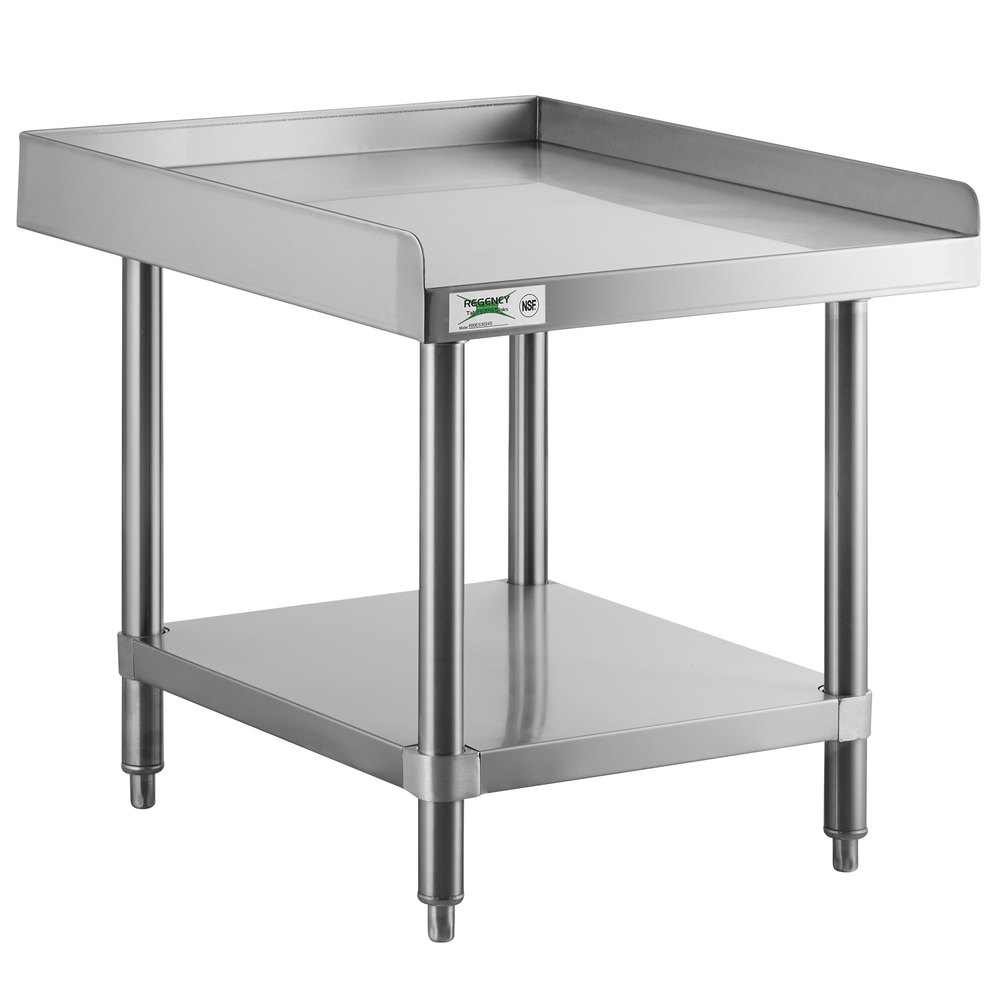 Regency 30 inch x 24 inch 14-Gauge Stainless Steel Equipment Stand With Galvanized Undershelf