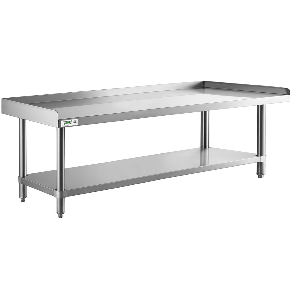 Regency 24 inch x 72 inch 14-Gauge Stainless Steel Equipment Stand With Galvanized Undershelf