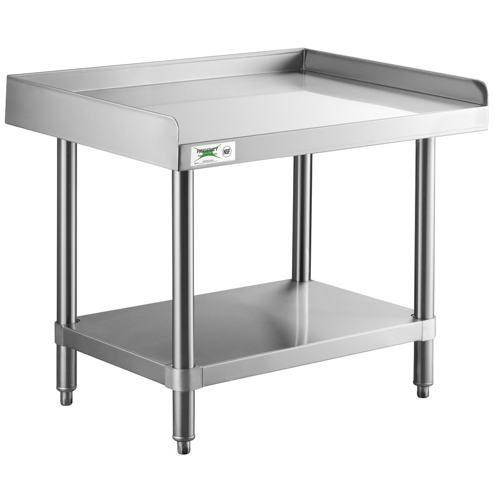 Regency 24 inch x 30 inch 14-Gauge Stainless Steel Equipment Stand With Galvanized Undershelf