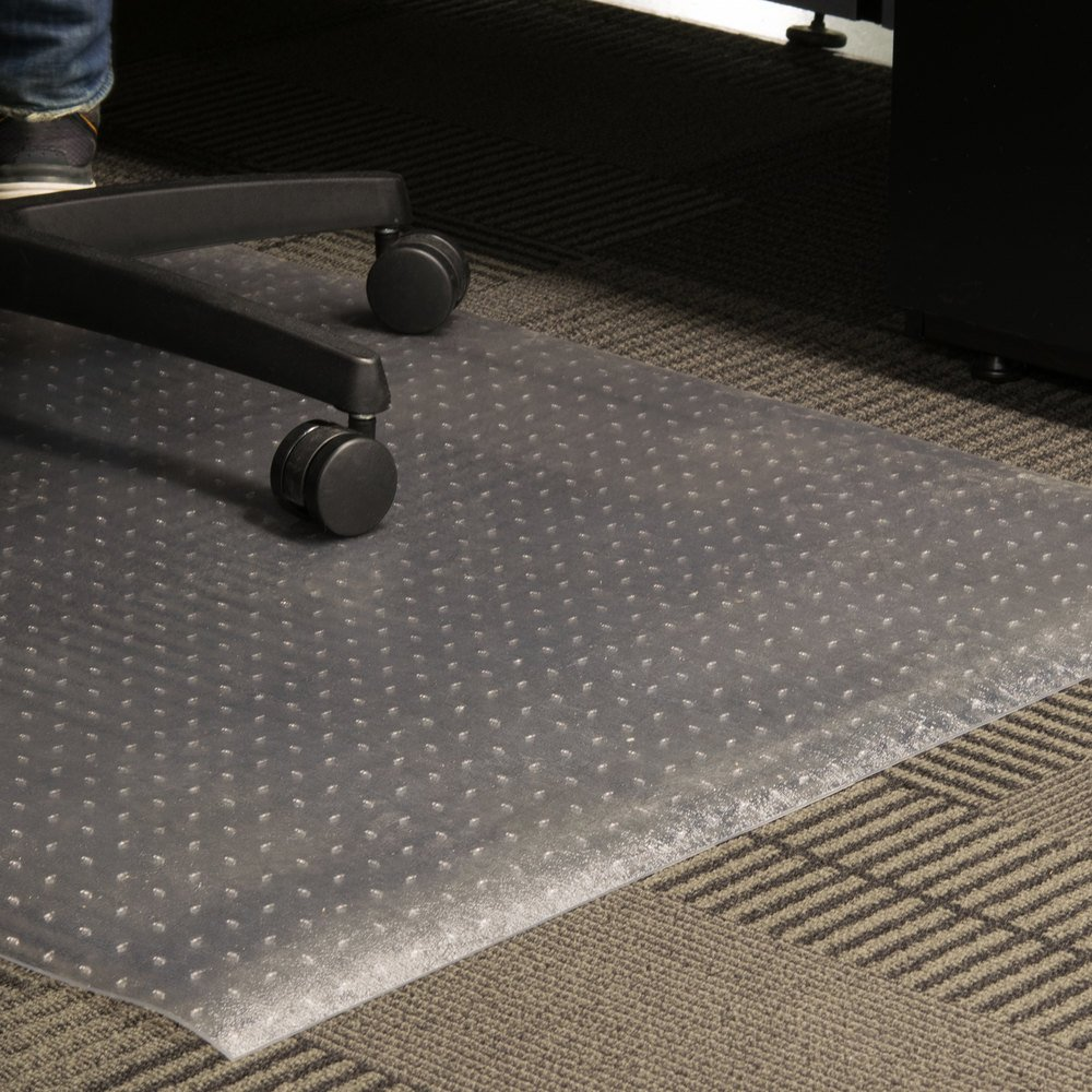 "Cactus Mat 3548F-3 Anchor-Runner 3' Wide Special Cut Clear Vinyl Heavy-Duty Carpet Protection Runner Mat - 5/16"" Thick"