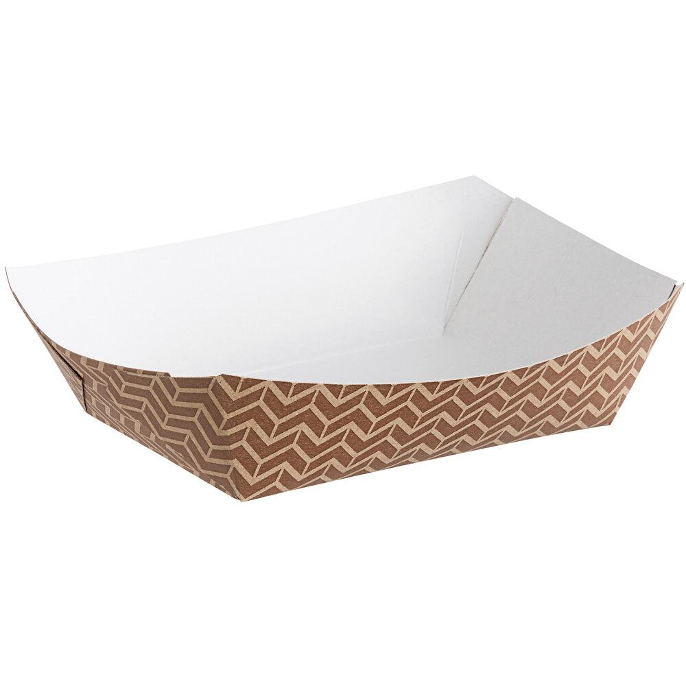 Carnival King Customizable #200 2 lb. Cornerstone Paper Food Tray - 1000/Case