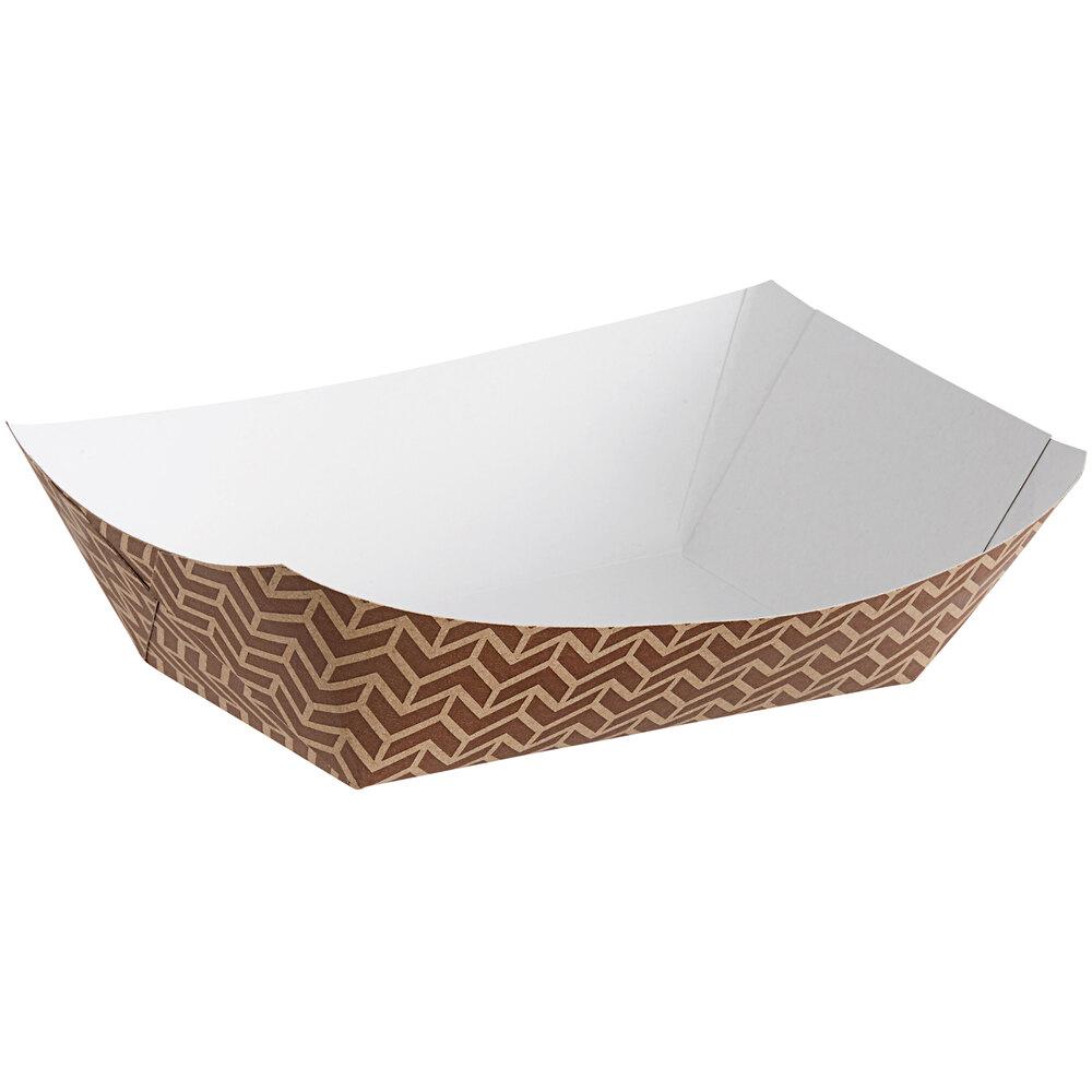 Carnival King Customizable #300 3 lb. Cornerstone Paper Food Tray - 500/Case