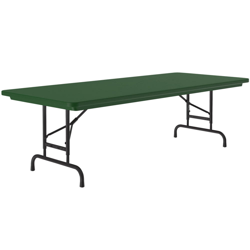 - Correll Adjustable Height Folding Table, 30