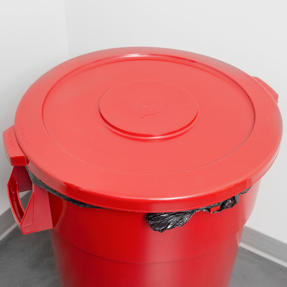 44 Gallon Red Trash Can Lid