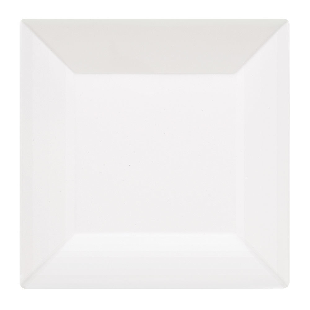 "GET ML-90-W 12"" White Siciliano Square Plate - 6 / Case"
