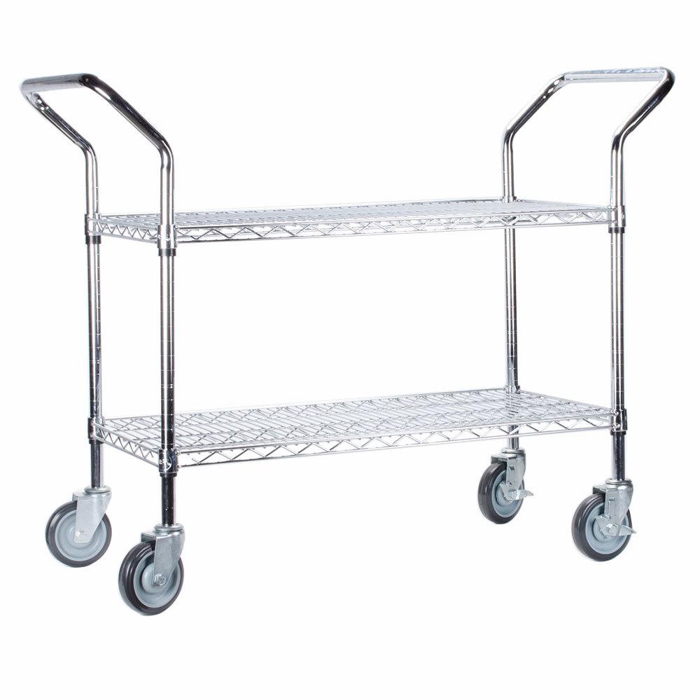 Regency 24 inch x 36 inch Two Shelf Chrome Heavy Duty Utility Cart