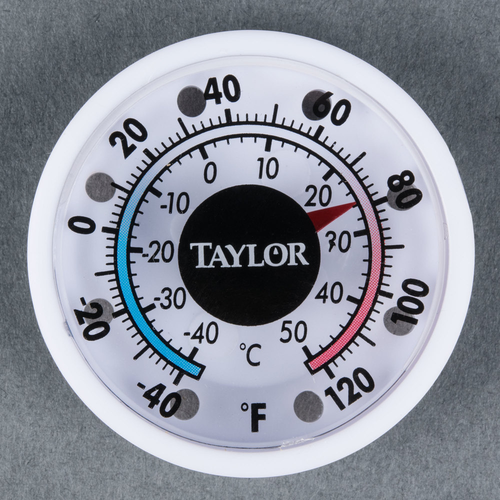 "Taylor 5380N 1 3/4"" Mini Indoor / Outdoor Thermometer"
