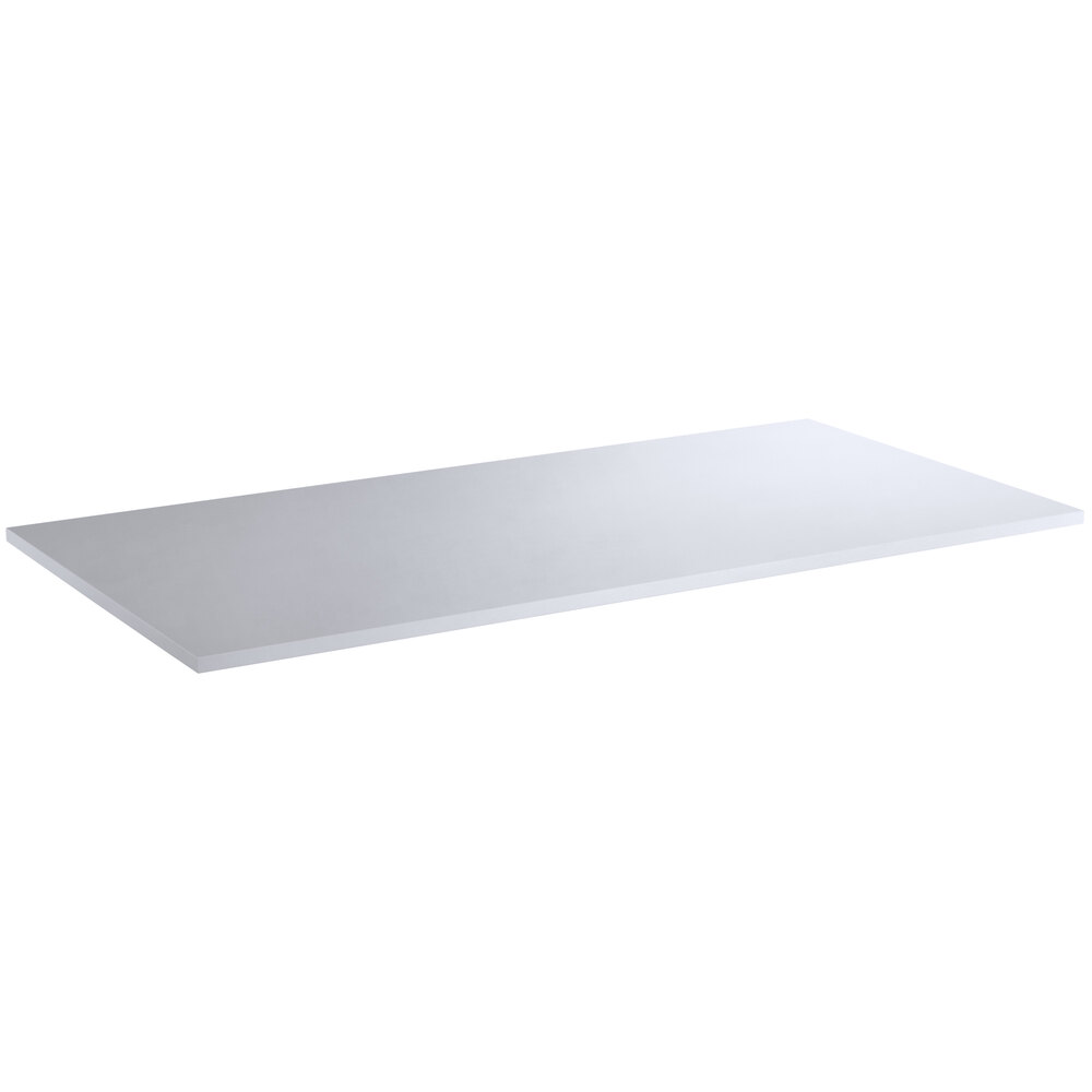 Regency 24 inch x 48 inch Poly Top Equipment Table Top for 24 inch x 48 inch 14-Gauge 304 Stainless Steel Poly Top Table