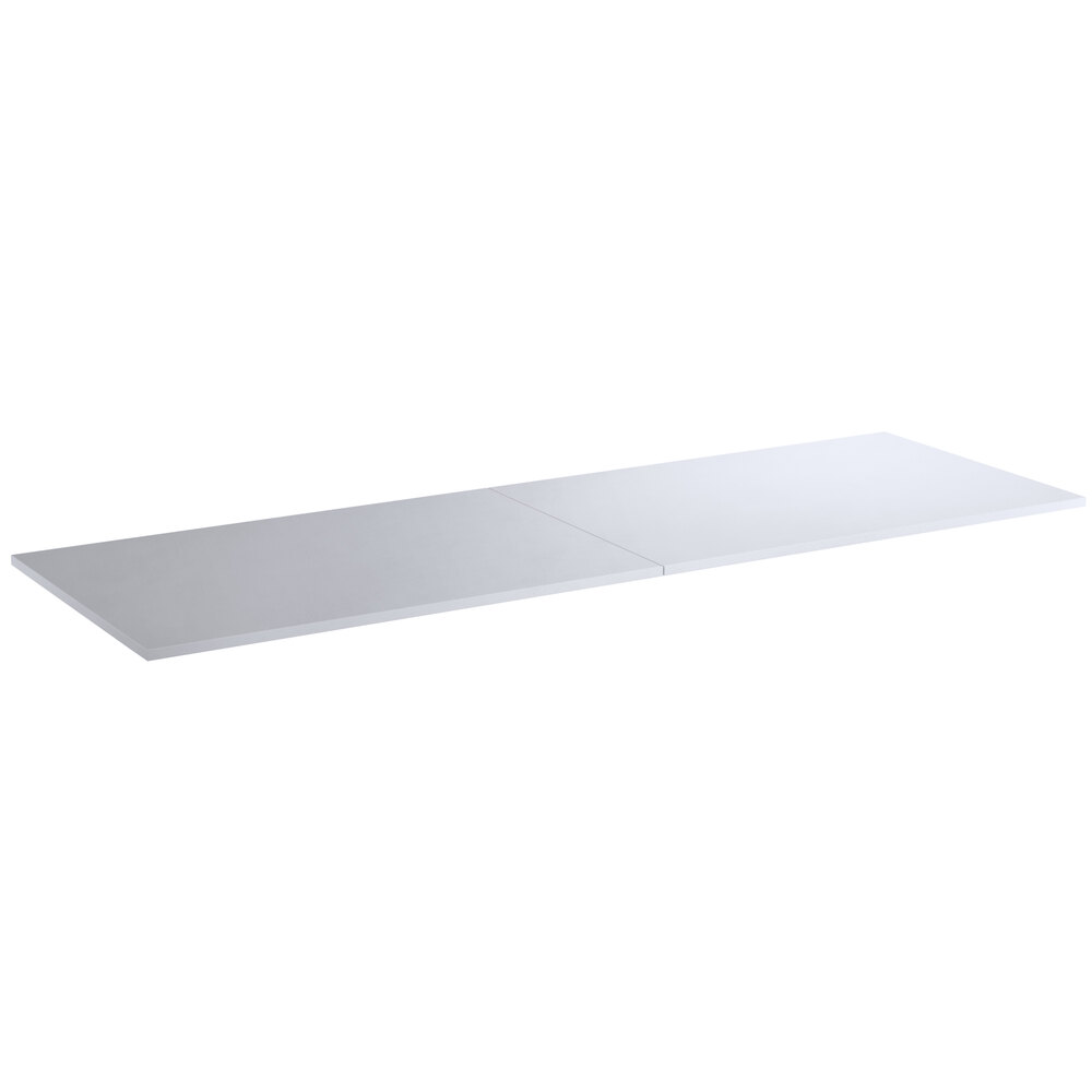 Regency 24 inch x 72 inch Poly Top Equipment Table Top for 24 inch x 72 inch 14-Gauge 304 Stainless Steel Poly Top Table