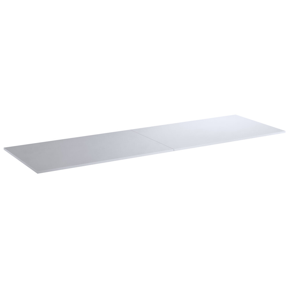 Regency 30 inch x 96 inch Poly Top Equipment Table Top for 30 inch x 96 inch 14-Gauge 304 Stainless Steel Poly Top Table