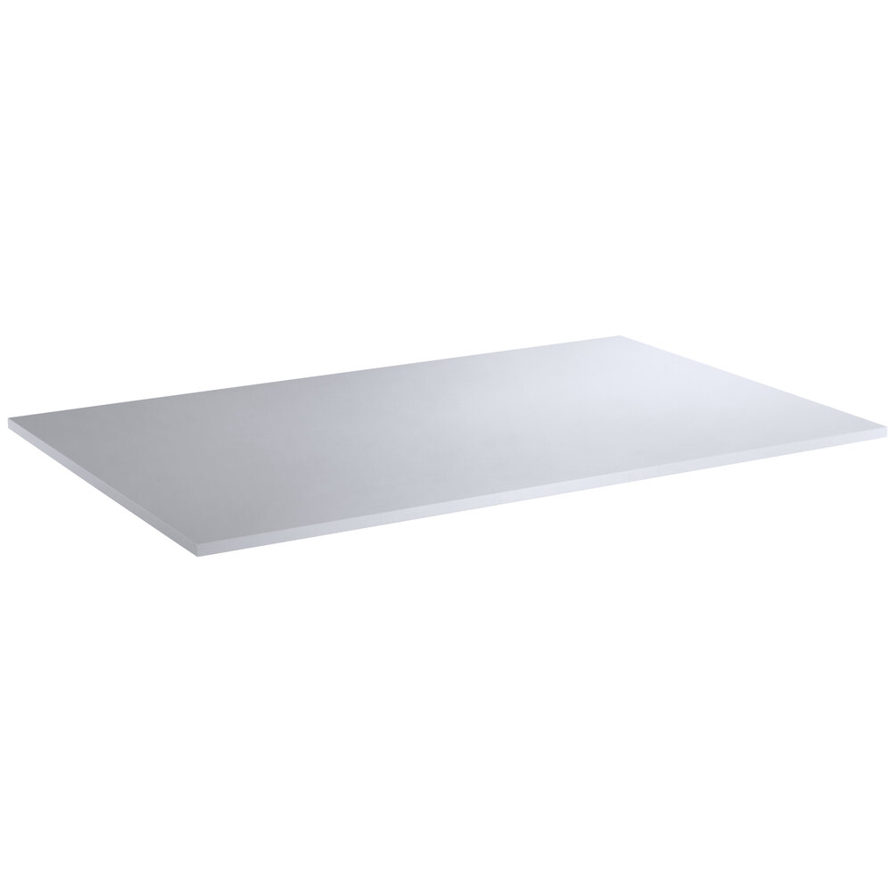 Regency 30 inch x 48 inch Poly Top Equipment Table Top for 30 inch x 48 inch 14-Gauge 304 Stainless Steel Poly Top Table