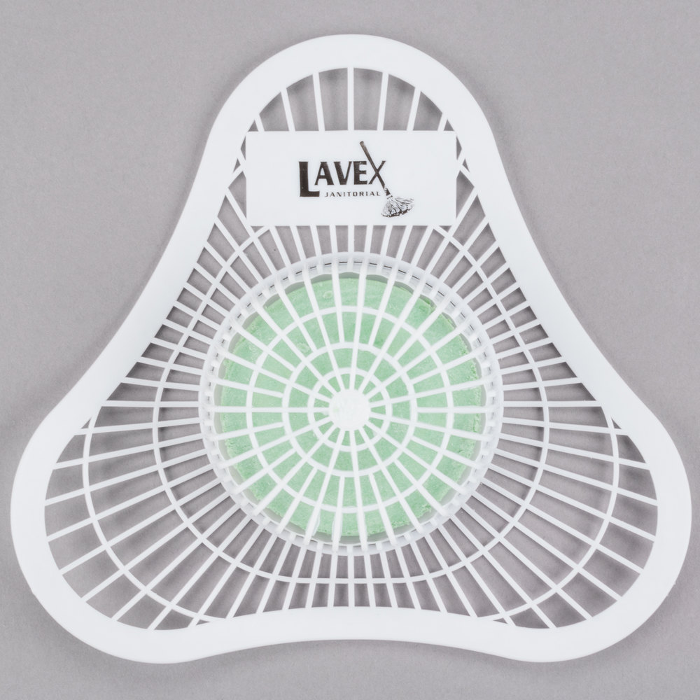 Lavex Janitorial Urinal Screen with Pine Block