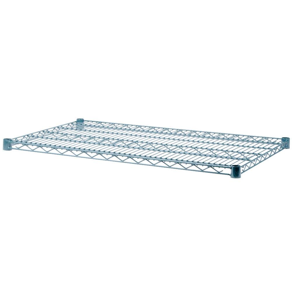 Regency 21 inch x 42 inch NSF Green Epoxy Wire Shelf