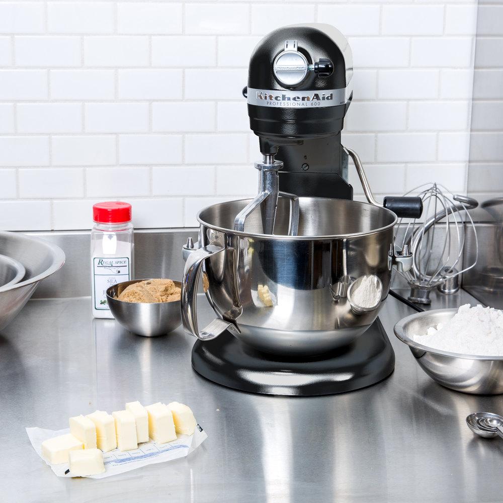Kitchenaid kp26m1xob onyx black professional 600 series 6 qt countertop mixer - Kitchenaid qt mixer review ...