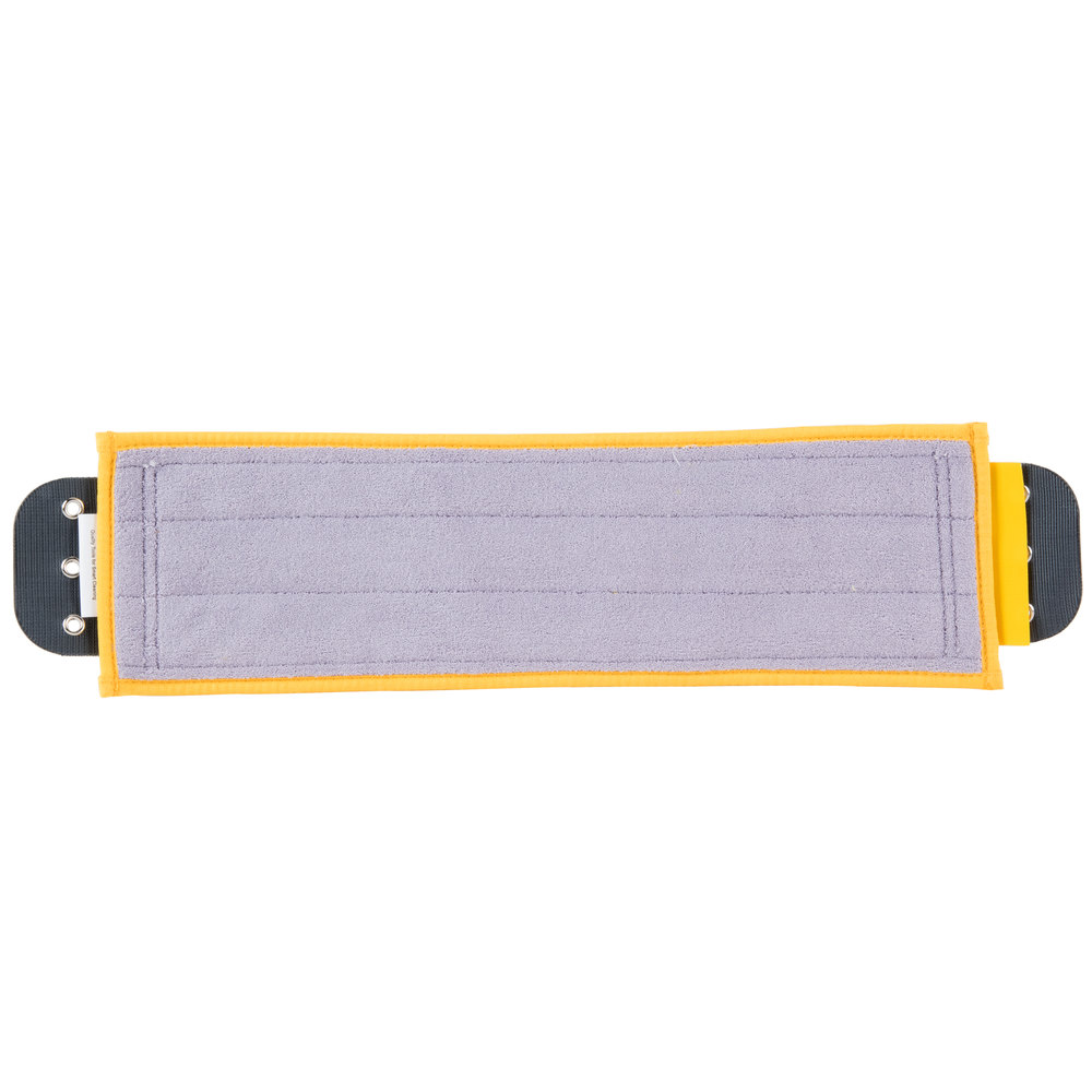 "Unger DM40Y SmartColor 16"" Yellow Damp Mop Pad"