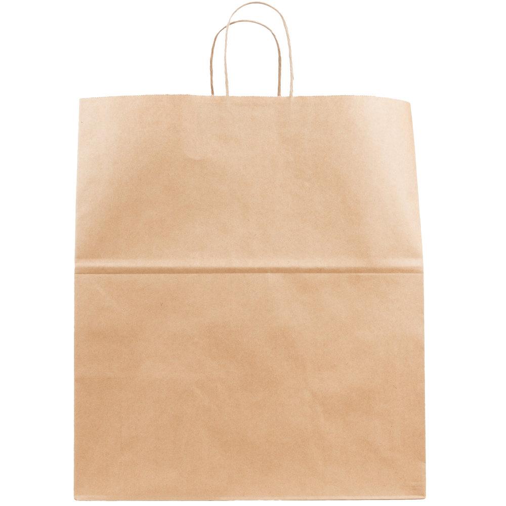 duro grande natural kraft paper shopping bag with handles 16