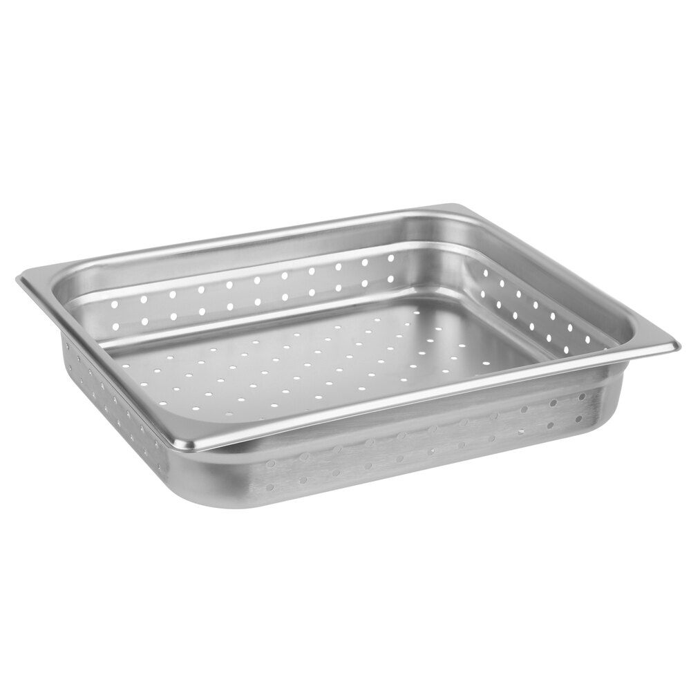 Choice 1 2 Size 2 1 2 Deep Anti Jam Perforated Stainless Steel Steam Table Hotel Pan 24 Gauge
