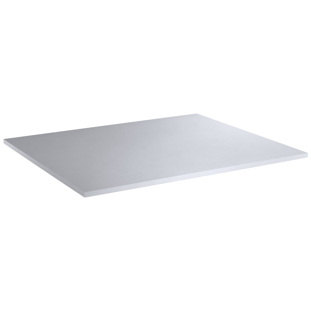 Regency 30 inch x 36 inch Poly Top Equipment Table Top for 30 inch x 72 inch 14-Gauge 364 Stainless Steel Poly Top Table