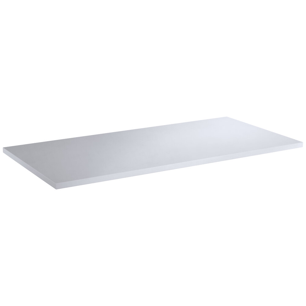 Regency 18 inch x 36 inch Poly Top Equipment Table Top for 24 inch x 72 inch 14-Gauge 304 Stainless Steel Poly Top Table with Backsplash